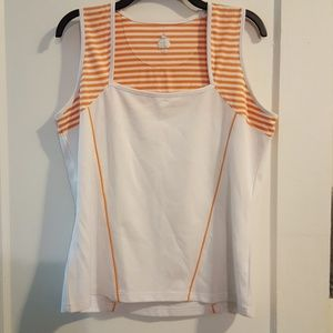 Bolle Tech Orange and White Athletic Tank Top
